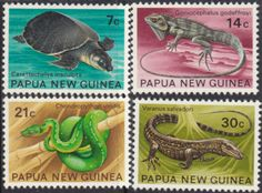 Papua New Guinea 1972 Fauna Conservation Set Fine Mint SG 216/9 Scott 344/7 Other European and British Commonwealth Stamps HERE!