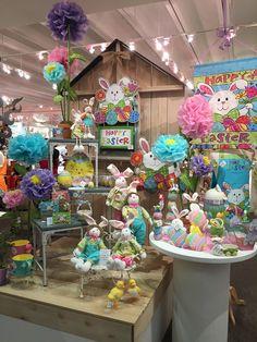 Spring Display from our Dallas Showroom at the Dallas Market Center - Summer 2015! #burtonandburton #Spring #Easter