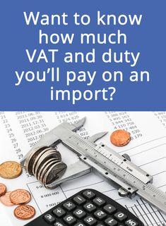 Don't be surprised by Customs taxes on your imports! Our Import VAT and Duty calculator helps you determine the exact amount you'll be paying for SARS to clear your goods. #importduty #SARS #importexport #internationaltrade International Trade, Calculator