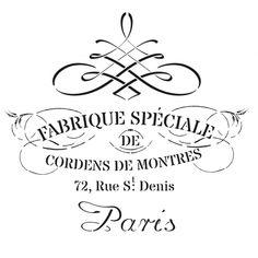 Free Stencils, Stencil Templates, Stencil Diy, Stencil Designs, Vintage Labels, Vintage Ephemera, Shabby Chic Stencils, French Typography, Beginner Woodworking Projects