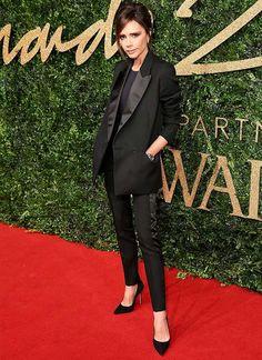 look victoria beckham terno preto blazer