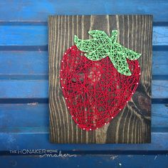"""This custom order leaves me wishing I had some big juicy strawberries to munch on!  #stringart"" Photo taken by @thehonakerhome on Instagram, pinned via the InstaPin iOS App! http://www.instapinapp.com (05/03/2015)"