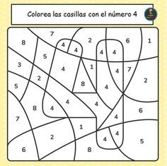 Alphabet Activities Kindergarten, Preschool Worksheets, Spanish Worksheets, Numbers For Kids, Numbers Preschool, Puzzles Numeros, Coloring Books, Kids Coloring, Teaching