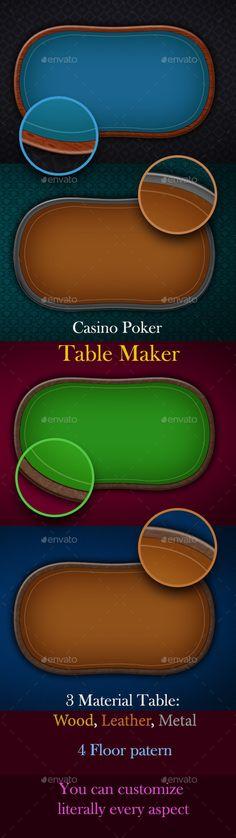 Casino Poker Table Maker (Backgrounds)
