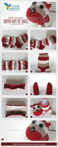 DIY Sock Hippo Tutorial                                                                                                                                                                                 More