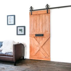 Custom Built Rustic Sliding Barn Farm Door by TheWhiteShanty