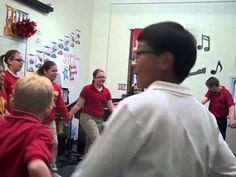 Fifth graders dancing the Lucky Seven - YouTube
