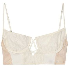 Mother of Pearl Longline silk bra by Daisy  Elizabeth