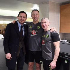 With the Captain @johnterry.26 and Bill Blood(look at the size of that arm ). @chelseafc #chelsea