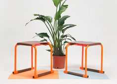 slot stools project by luke gorden is an exploration into 'toolless furniture'  www.designboom.com