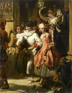 monsieurleprince:  John Callcott Horsley (1817 - 1903) - Carnival Time, 1869