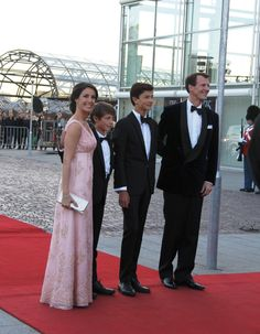 TRH Prince Joachim and Princess Marie with HH Prince Nikolai and Prince Felix HH arrives at the Concert Hall.