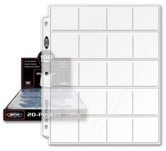 """BCW Pro 20-Pocket Pages, Pocket Size: 2"""" x2"""", 20 Pages - ..."""