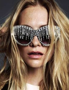 Eccentric Bedazzled Sunglasses -#sunglasses