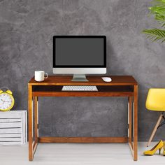Shop Modern Folding Desk with 4 USB Ports - Overstock - 9106464
