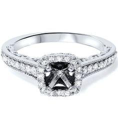 Cushion Halo Diamond Engagement Ring Setting Vintage by Pompeii3