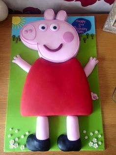 We bet Abbi loved her giant Peppa cake for her 2nd birthday!