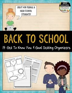 Back to School Graphic Organizers - get to know your new students and set some goals for the new school year! ($)