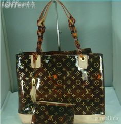 Details about Louis Vuitton Ambre Bucket Handbag Brown Clear Plastic ... 2f3dbbfdbb549