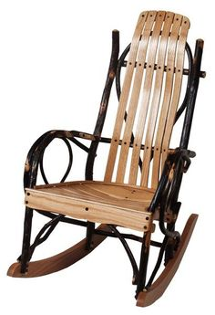 Amish Hickory Child's Rocker Rustic style kid's rocker. A special seat built just for little ones. #kidsfurniture #childsrocker