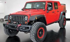 The surf-themed Jeep Chief, above, an homage to the mid-'70s Cherokee Chief, will participate in the Easter Jeep Safari gathering of off-road enthusiasts in Moab, Utah, this month. Also making the trip will be the Wrangler Red Rock Responder, a Wrangler-based pickup with an extended wheelbase and locking storage compartments under and around the bed. Jeep also is sending five other one-off working concept vehicles to the event.