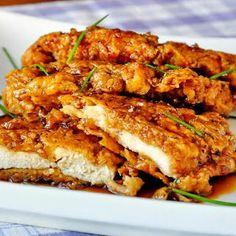 Double Crunch Honey Garlic Chicken Breasts.