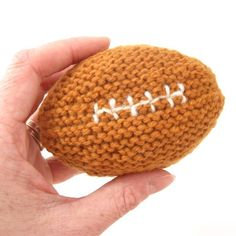 Crochet Football Pattern Bas First Football Pattern Knitting Patterns And Crochet Crochet Football Pattern Crochet Football Earflap Hat Pattern Craftsmake For And With. Crochet Football Pattern Katie Cooks And Crafts Football Coaste. Baby Knitting Patterns, Crochet Patterns, Baby Patterns, Easy Knitting, Loom Knitting, Knitting Stitches, Crochet Football, Rugby, Crochet Baby Toys