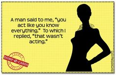 I'm never acting!