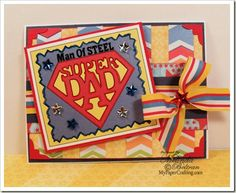 Digi from PaperCraftingWorld.com and papers from DCWV All About boys and Nana's Kids Stacks. Details: http://www.mypapercrafting.com/2013/05/superdad-card.html