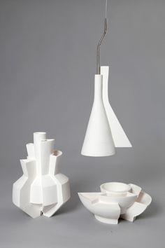 Vases Bowls And Interior Design Items In Ceramic Made By Israeli Designer