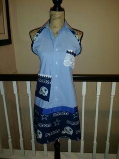 Man's button down shirt!  Perfect for a Dallas Cowboys fan.