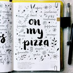 It seems like there is always a new build-your-own-pizza place opening up near me. What do you like on your pizza? #hobonichi #stationery #planner #filofax #diary #notebook #journal #journaling #journalingprompts #artjournal #artjournaling #mtn #midori #travelersnotebook #doodles #doodling #handwriting #handlettering #lettering #calligraphy #typography #scrapbooking #vscocam #brushlettering