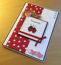 """Liebe Grüße zum Valentinstag. Mit den Stempelset's """"Love you lots"""" und """"Mit Gruß und Kuss"""" von Stampin up sowie das Designerpapier """"Liebe Grüße"""". Melanie@Stempelengel.de"""
