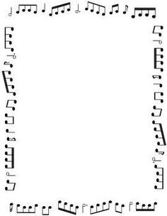 Borders and Frames: Music Themed Black and White Borders For Paper, Borders And Frames, Free Frames, Page Borders Free, Music Border, Music Symbols, Music Worksheets, Notes Template, Templates
