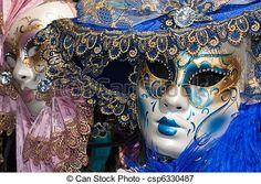 Photo - rose, bleu, Vénitien, carnaval, Masques - image, images, photo libre de droits, photos sous licence, photographie, photographies, graphique, graphiques