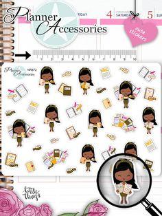 Sticker - Planner Girl Sticker NR872 - ein Designerstück von PlannerAccessories bei DaWanda