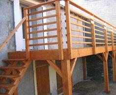 terrasse suspendue bois 49