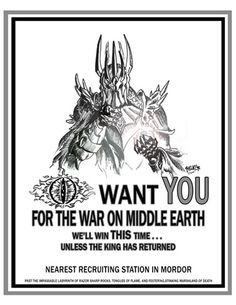 Eye Want You For The War On Middle Earth