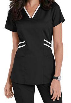 Grey's Anatomy Marquis Contrast Trim V-neck Scrub Tops Scrubs Outfit, Scrubs Uniform, Spa Uniform, Healthcare Uniforms, Scrubs Pattern, Stylish Scrubs, Greys Anatomy Scrubs, Medical Scrubs, Nurse Scrubs