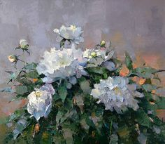 White peonies - Alexi Zaitsev - Sale of paintings and other art works