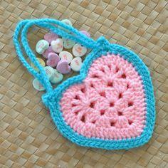 PDF Granny Heart Superstar Hanging Hearts Valentine Crochet Pattern