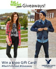 Enter to Win a $300 American Eagle Gift Card for Back To School - See more at: http://www.fatwallet.com/blog/enter-to-win-a-300-american-eagle-gift-card-for-back-to-school/#sthash.wVDEk4Bu.dpuf