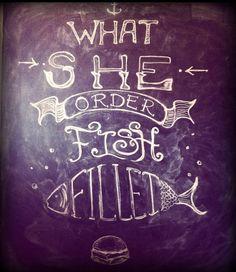 Chalk Typography Art to Kanye Lyrics by Georgia K @ Seirene.