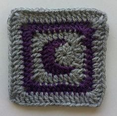 Mini Moon Square - free crochet pattern by Claire Hayes / BehookedWitch https://behookedwitch.wordpress.com/2015/06/06/free-mini-moonish-square-and-moon-charm-patterns/
