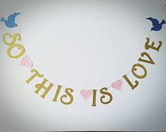 So This Is Love Banner / Disney Banner / Cinderella Banner for Weddings, Bridal Showers, engagement parties