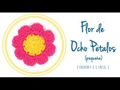 #Flor de Ocho Pétalos a #Crochet (pequeña) | #PatronesValhalla