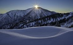 Sunburst... Just as the sun slipped behind Mt. Baden-Powell...  Big Pines, California, United States.
