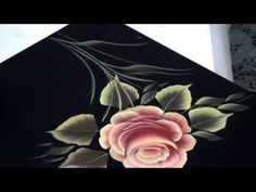 Pinceladas Decorativas: La Rosa - YouTube