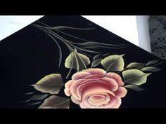 Pinceladas Decorativas: La Rosa - YouTube