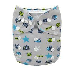 Alva Baby New Design Reuseable Washable Pocket Cloth Diaper Nappy + 2 Inserts YA133